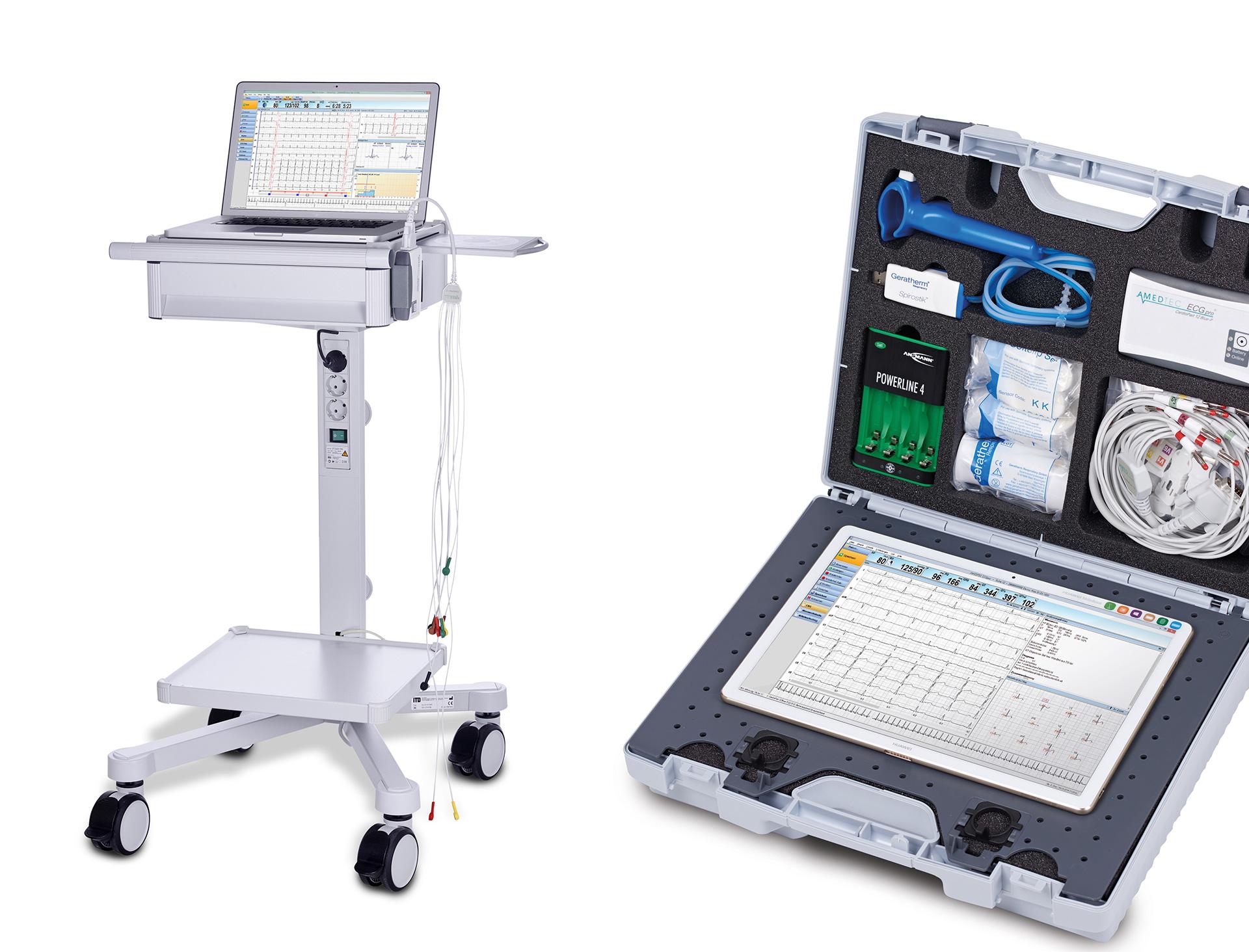 Ruhe und Belastungs-EKG